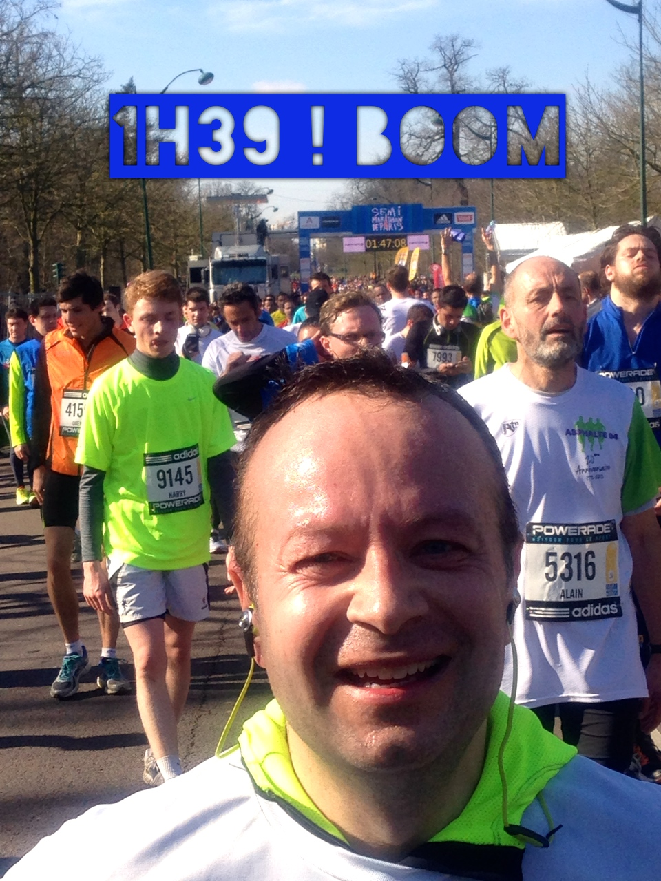 Mon semi marathon de Paris 2014 !