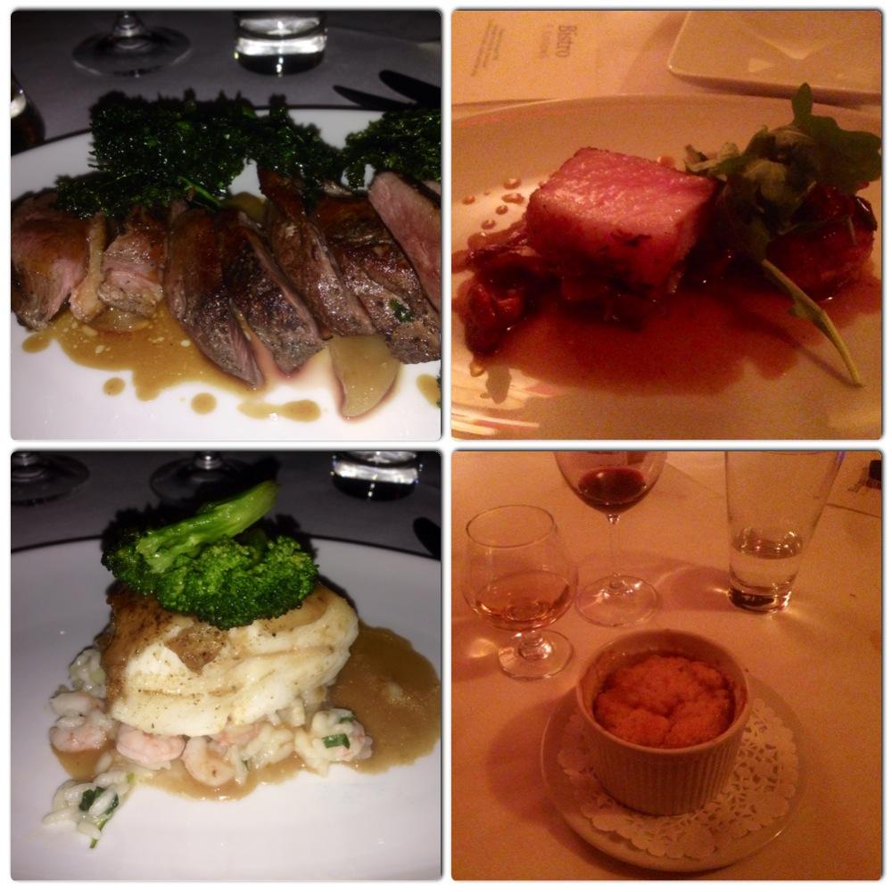 Le souper gastronomique à l'Auberge aux 4 Saisons