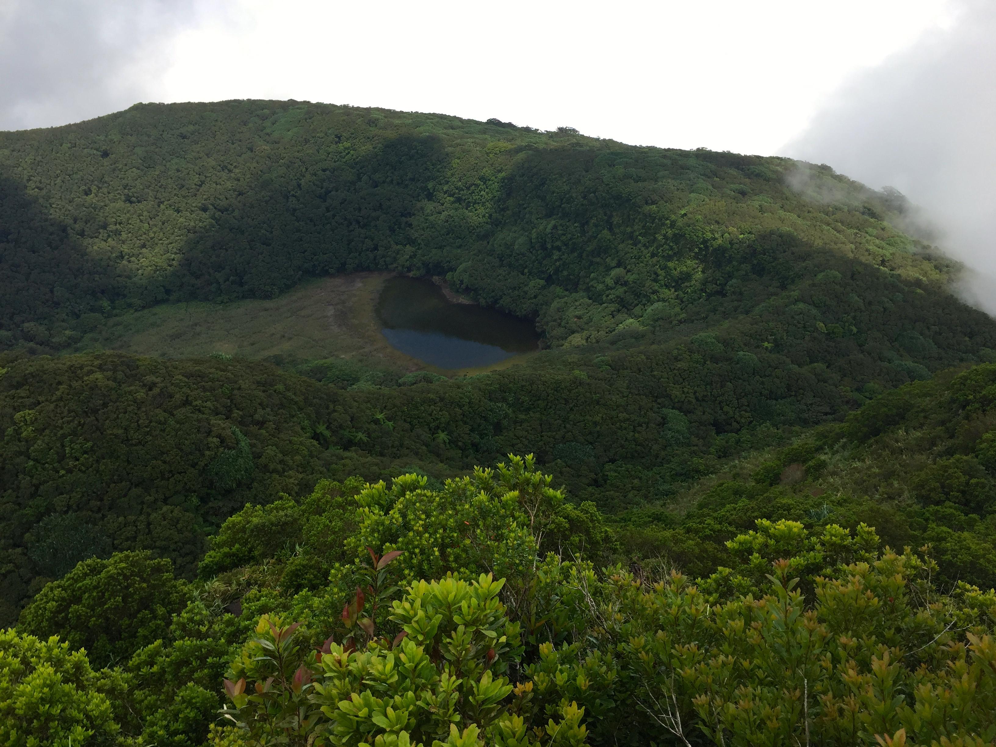 Le lac du cratère