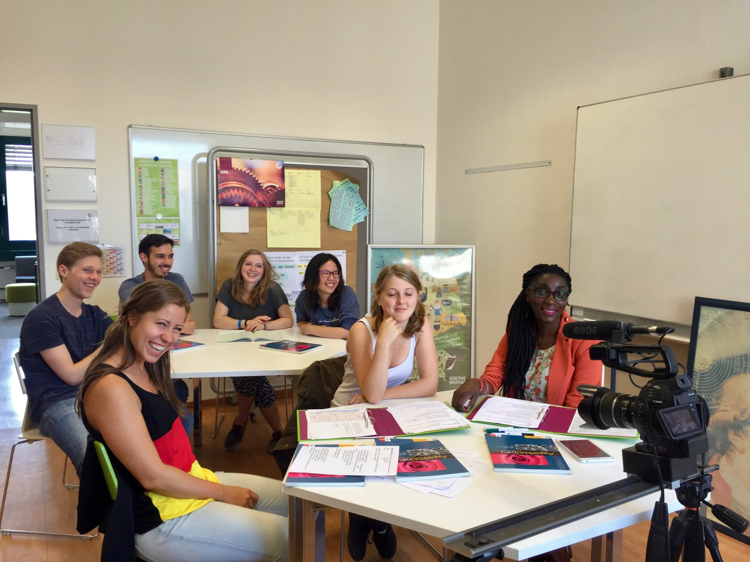 Cours au Goethe Institut